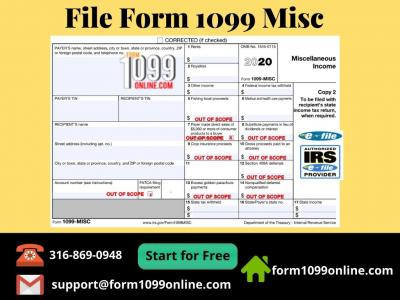 EFile 1099 MISC | 1099Int | Free 1099 Filing | 1099 Online - Img 1