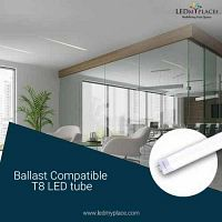 Change Fluorescent Tube With Ballast Compatible T8 LED Tube