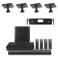 Bose Lifestyle 650 Home Entertainment System with 2 Pairs of OmniJewel Ceiling Brackets and OmniJewe