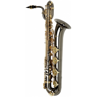 Allora Paris Series Professional Black Nickel Baritone Saxophone AABS-955 - Black Nickel Body - Bras