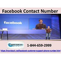 Dial our Facebook Contact Number (1-844-659-2999) right away