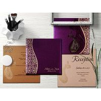 Modern Exotic Paisley Wedding Invitations | IndianWeddingCards