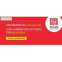 70 %	OFF Sale - LEARN 3 SAP COURSES @ 99 $ Only !
