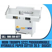 Buy MBM Triumph 5222 Programmable Hydraulic Paper Cutter 20.5?