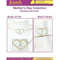 Latest Heart Shape Necklace Set on Wholesale Price