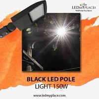 Use Black LED Pole Light 150W To Make Nights More Safer