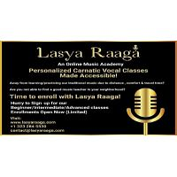 Learn Carnatic Vocal Music Classes In Online | Lasya Raaga