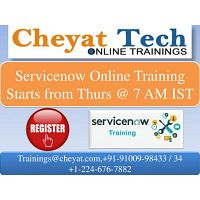 servicenow online training - cheya tech
