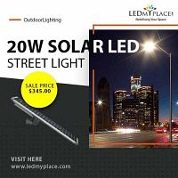 LED solar street lights 20W with 3 years of Manufacturer's Warranty