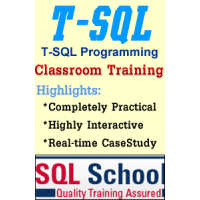 PROJECT ORIENTED Classroom REALTIME TRAINING ON SQL Server 2017 @ SQL School
