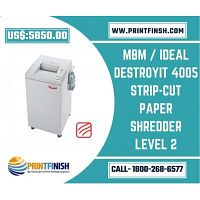 MBM / Ideal Destroyit 4005 Strip-Cut Paper Shredder Level 2