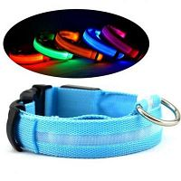 Dog & Cat Collar LED Nylon Night Safety.