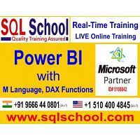Real Time Live Online Training On Power BI @ SQL School