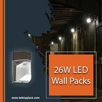 Install 26W LED Wall Packs with Photocell Option For Added Benefits