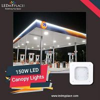 Have Safe and Clean Lighting by installing 150w LED Canopy Light at The Gas Stations