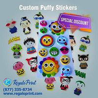 High-Quality Use Of Puffy Stickers Printing For Your Business| RegaloPrint