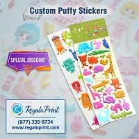 Add Items A Nice Look With Puffy Stickers Printing| RegaloPrint