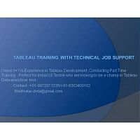 Tableau Training With Technical Support