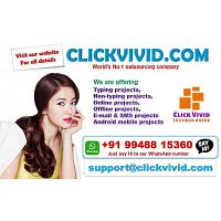 Click Vivid Technologies provides excellent part time jobs for you. Visit our website for all detail