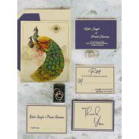 Adorable Peacock Wedding Cards