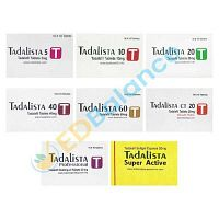 Buy Tadalista 5, 10, 20, 40, 60, CT 20mg, Professtional online | Sale at USA