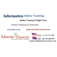 Informatica Online Training Classes by Monstercourses