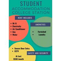 College Station Student Accommodation- Luxury Studio, Apartment & Shared Rooms