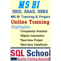 Microsoft MSBI Best Project Oriented Online Training @ SQL School