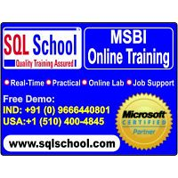 MSBI Real time Online Training @ SQL School