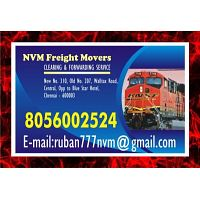 NVM | Freight Movers Sine 1979 | 8056002524 | Chennai Rly. Clearing Agency 645 | 8056002524