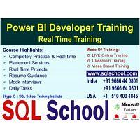 Power BI(with DAX & Custom Visualizations) Real Time Video Training @ SQL School