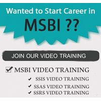 Real Time Video Training On MSBI @ SQL School