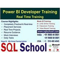 Real Time Video Training On Power BI @ SQL School