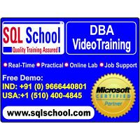 SQL DBA Real time Video Training @ SQL School