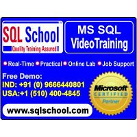 Real Time Video Training On SQL DBA @ SQL School