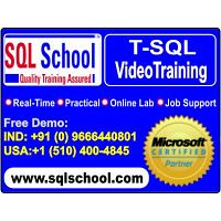 Real Time Video Training On SQL Server @ SQL School