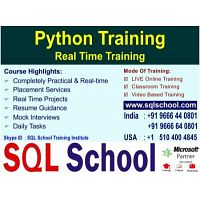 Real Time Live Online Training On Python @ SQL School