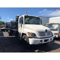 2005 HINO 268 26FT FLATBED TRUCK  NON CDL STOCK 1613