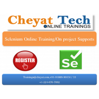 selenium online training/job support/interview support by cheyat tech
