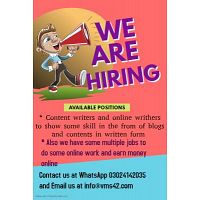 we have some multiple jobs to do some online work and earn money online.