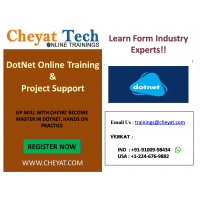 dotnet online training/on project support/interview support by cheyat tech