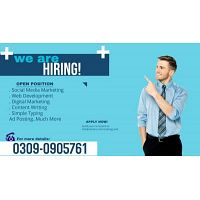 Opportunity for males and females work from home.