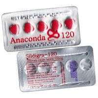 Anaconda 120mg tablets [Sildenafil Citrate] buy at low price to treat ED