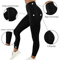 Shop Best Black High Waisted Leggings by Chrideo - USA