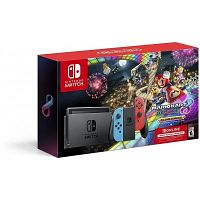 Nintendo Switch w/ Neon Blue & Neon Red Joy-Con + Mario Kart 8 Deluxe