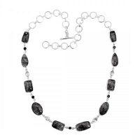 Real Sterling Silver Black Rutile Stone  at  Distributor Price