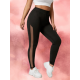 Buy Black Leggings with Mesh Side Panels from USA Store - Chrideo