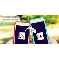 How can a user transfer contacts from iPhone to iPhone?